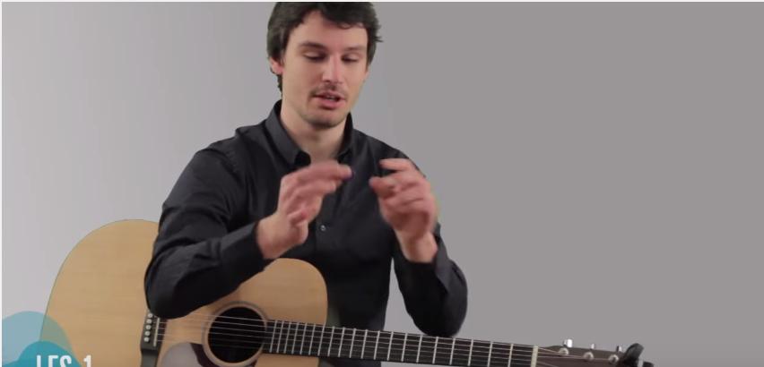 Eerste gitaarles beginners